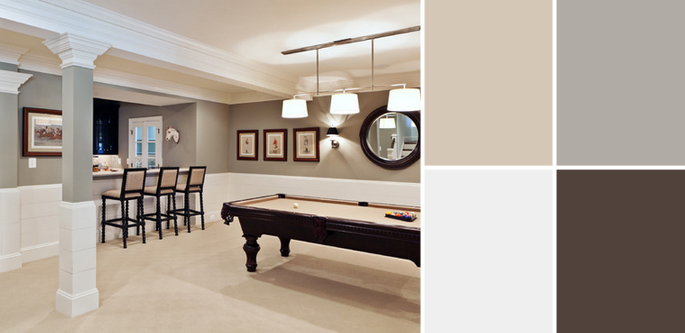 Basement Wall Paint Color Ideas