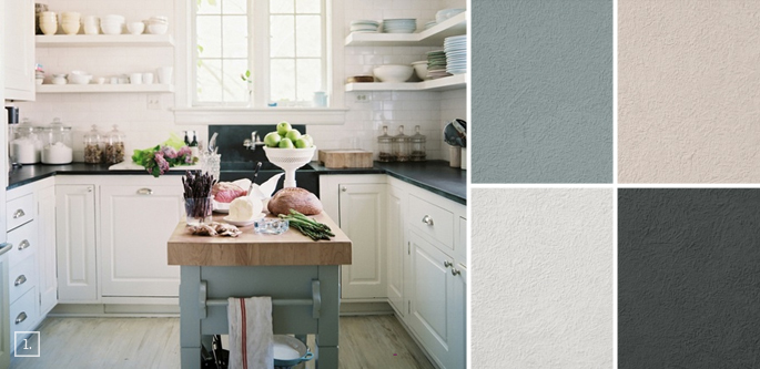 A palette guide for kitchen color schemes decor and paint for Kitchen colour palette ideas