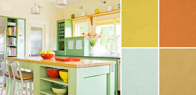 orange kitchen kitchens color schemes kitchens color