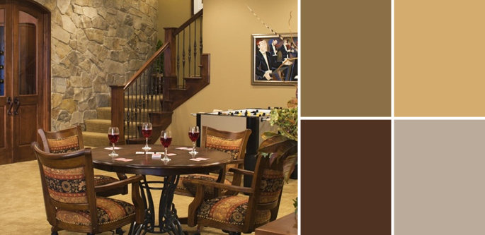 A palette guide to basement paint colors home tree atlas for Interior paint colors for rustic homes