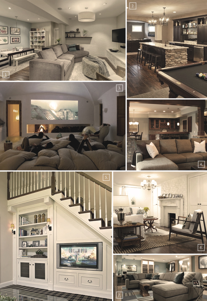 Turning A Basement Into A Family Room Designs Ideas