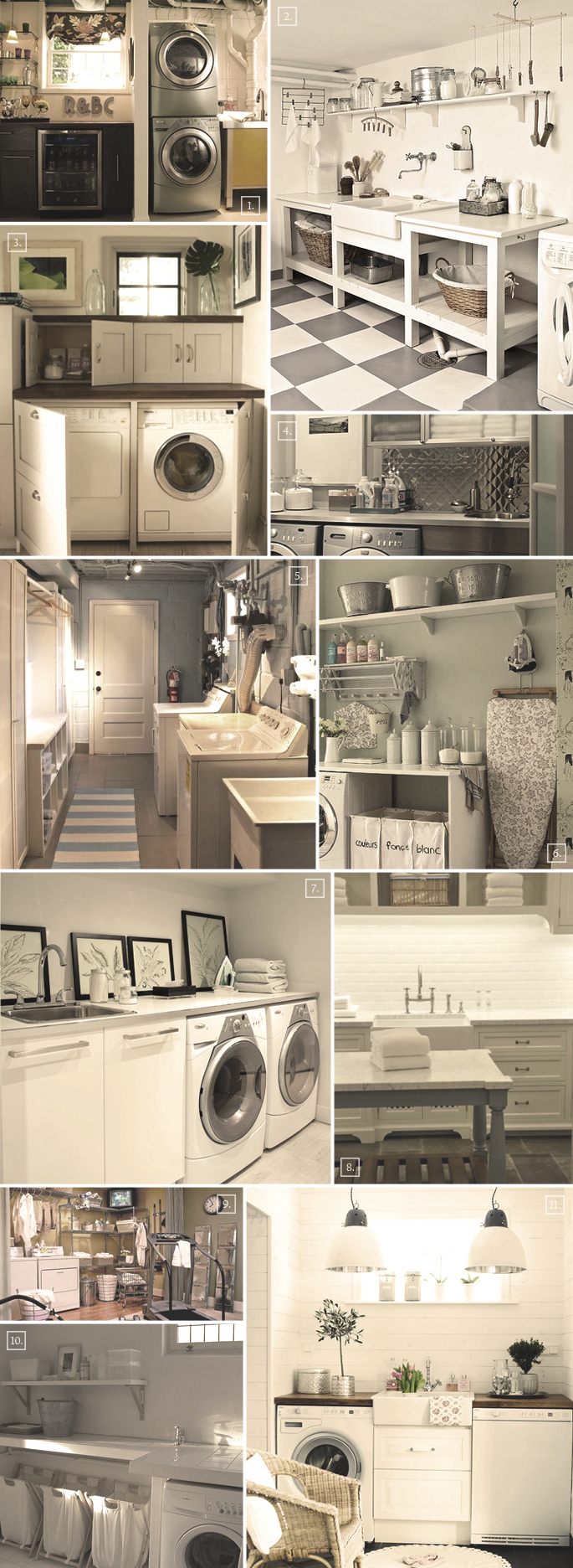 Design ideas for that perfect basement laundry room home tree atlas - Laundry ideas for small space decoration ...