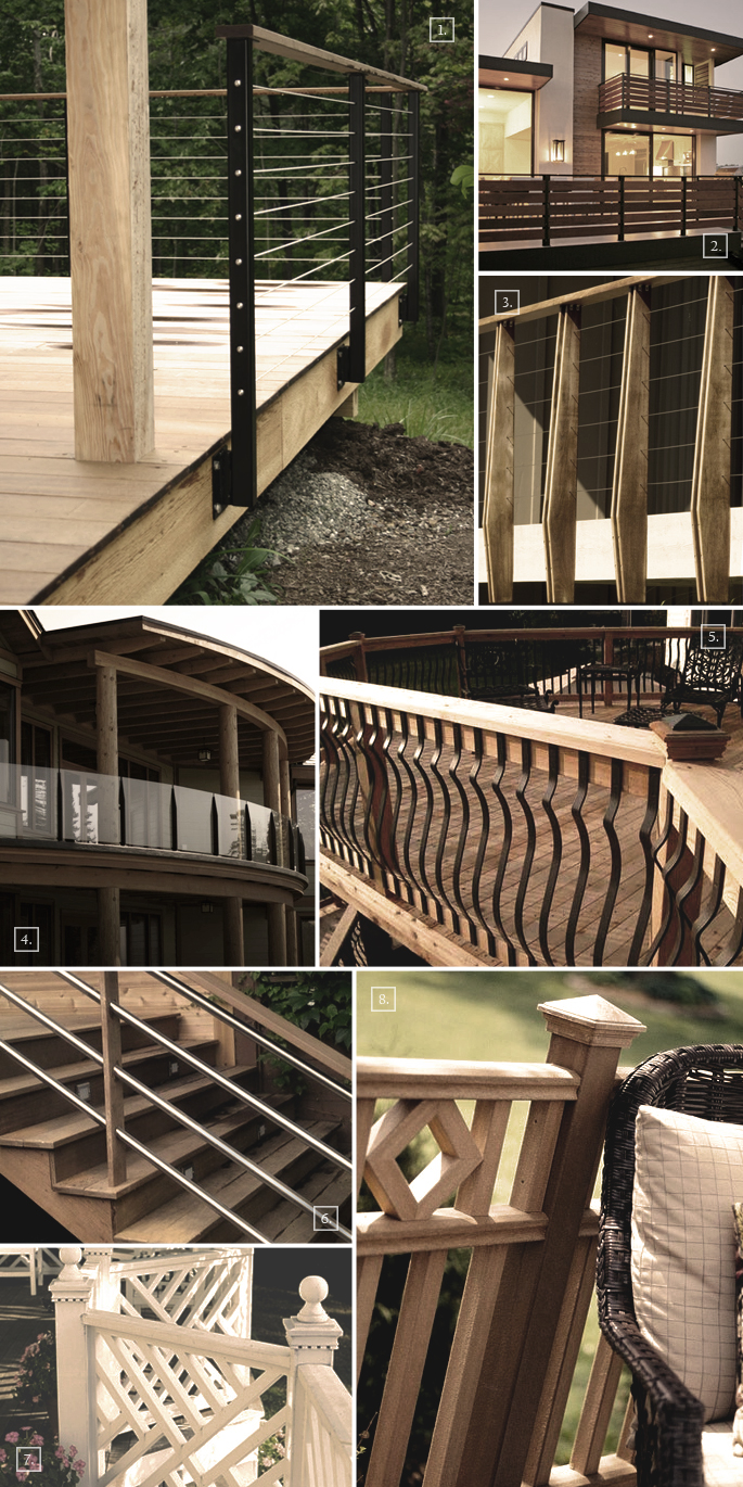Ideas For Deck Railing Design Deck Railing Ideas Include Wooden Railings As Seen In Pictures 7 And