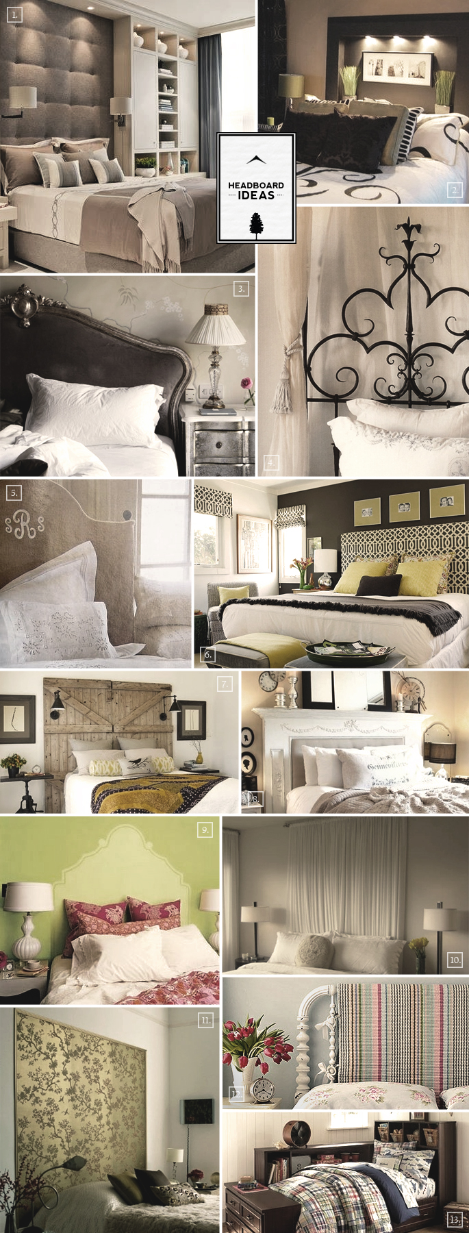 Headboard Design Ideas From Monograms To Fireplace
