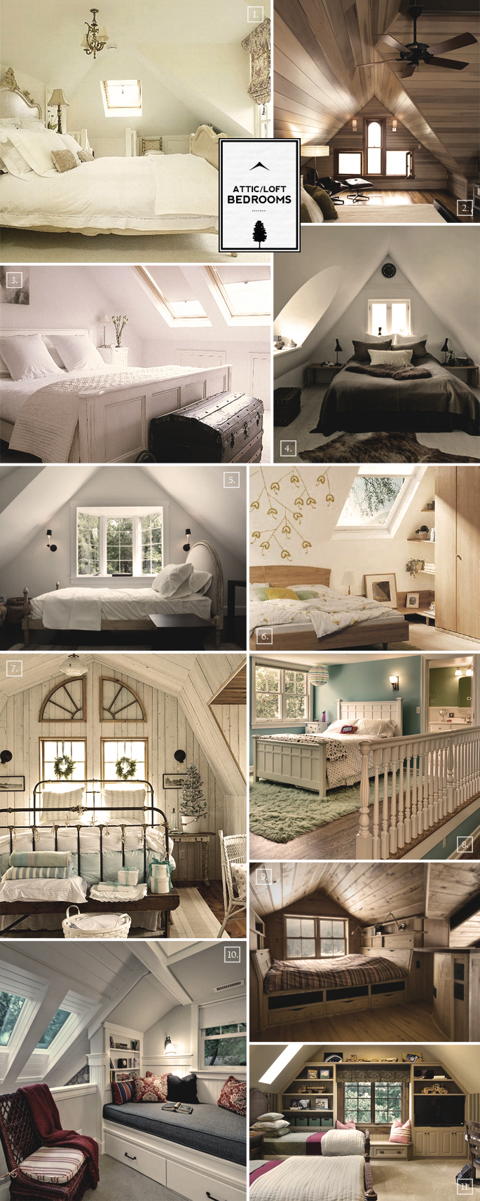 Design ideas for an attic loft bedroom home tree atlas for Attic bedroom ideas