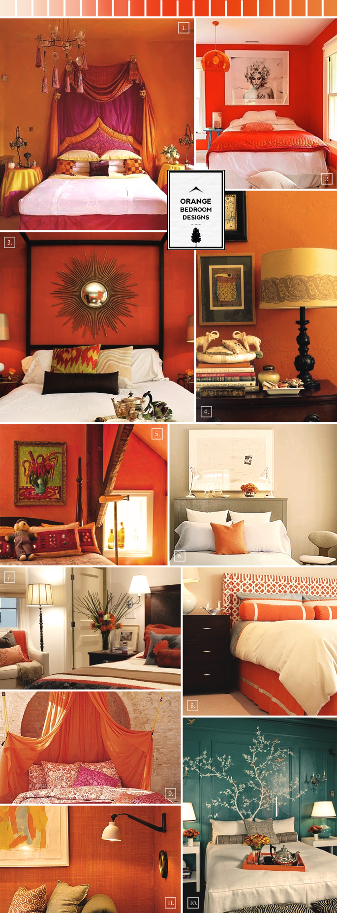 Design tips and pictures for designing a bedroom in orange home tree atlas - Orange bedroom decorating ideas ...