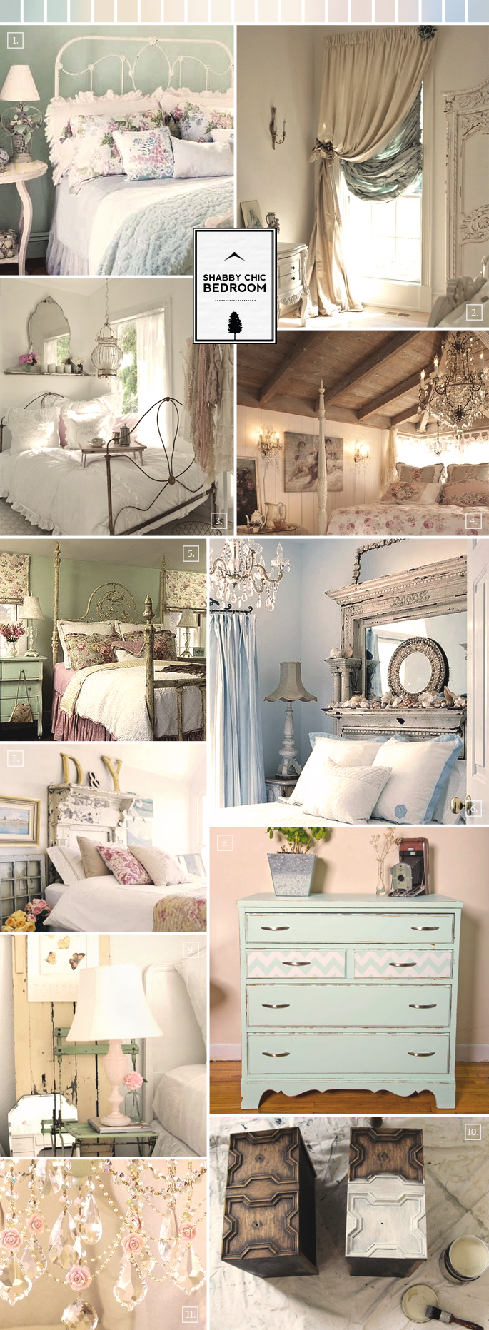 Shabby chic bedroom ideas and decor inspiration home Decorating your home shabby chic cottage style