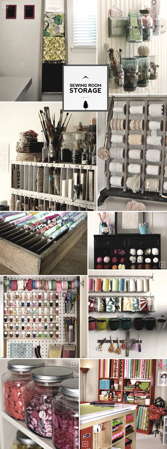 Sewing Room Organization Ideas