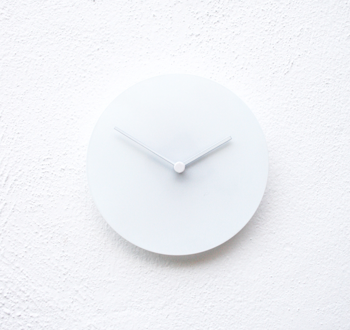 Pure White Clock