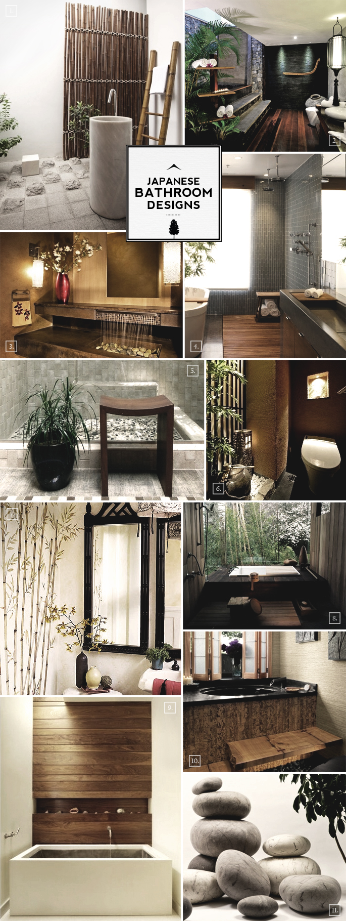 Zen style japanese bathroom design ideas home tree atlas Japanese bathroom interior design
