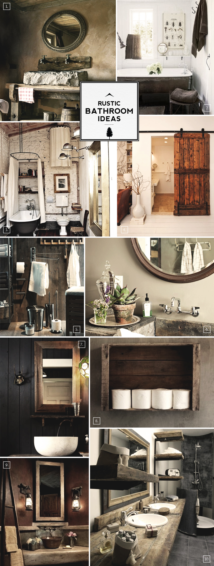 Rustic bathroom ideas and decor tips home tree atlas for Bathroom ideas rustic