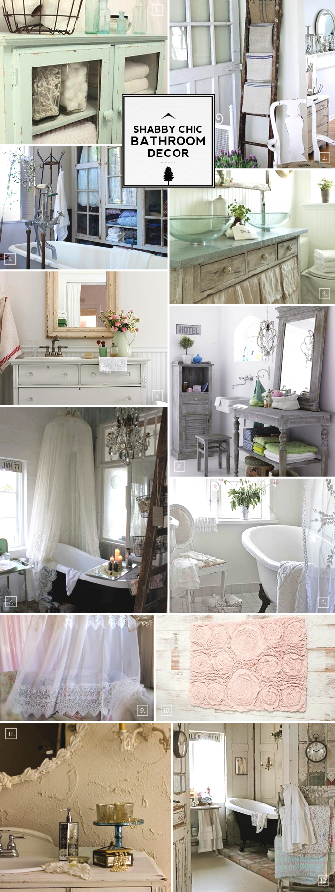 Shabby Chic Bathroom Ideas And Decor Designs Home Tree Atlas