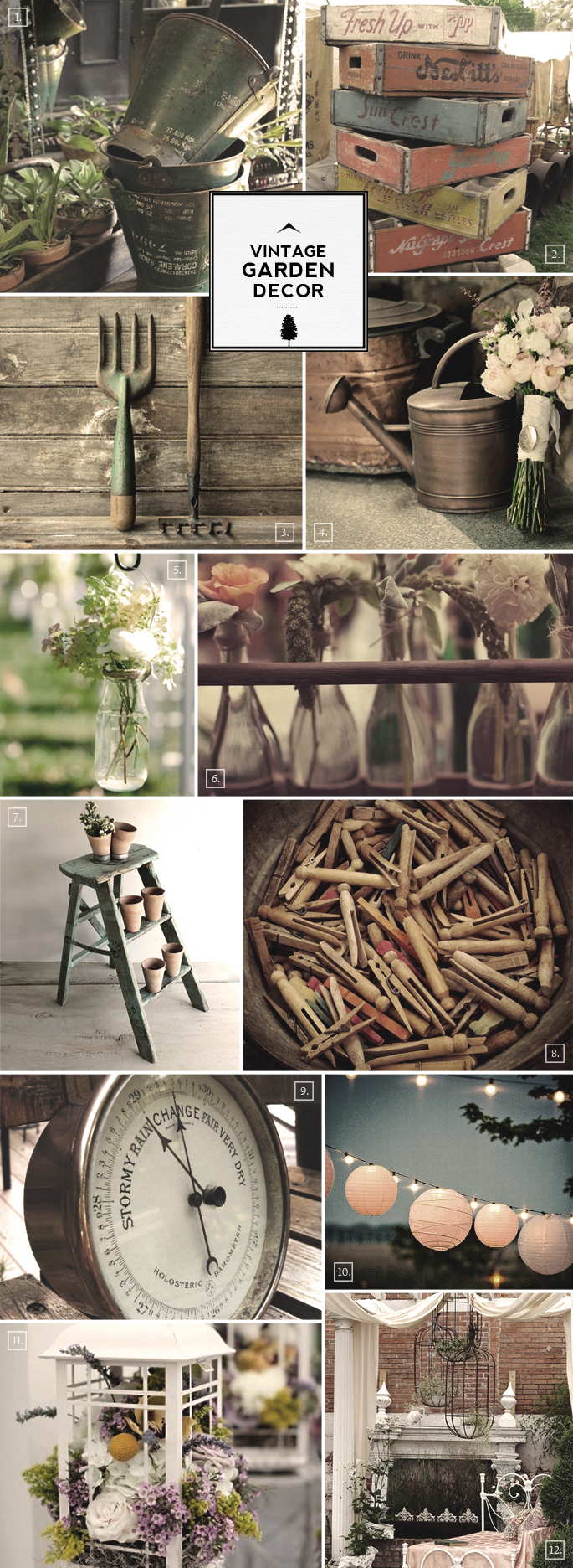 Vintage garden decor ideas photograph ideas for vintage ga Vintage house decor