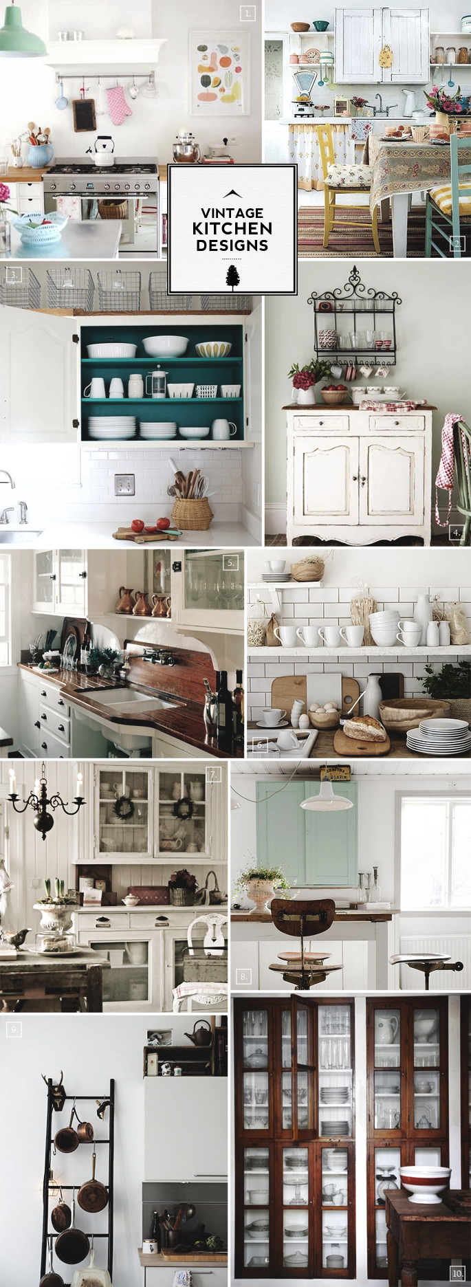 Vintage kitchen design accessories and decor ideas for Vintage kitchen designs photos