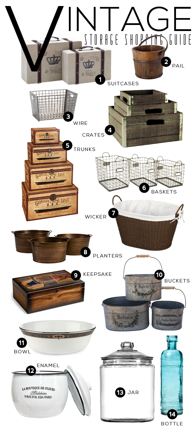 Vintage Storage Shopping Guide