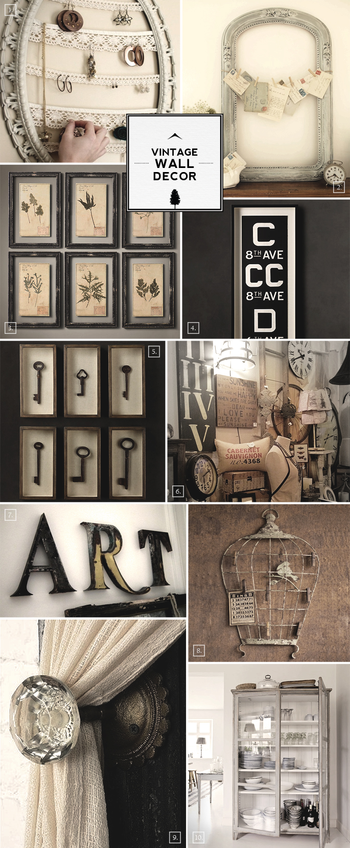 Vintage Wall Decor Ideas From Bird Cages To Designing