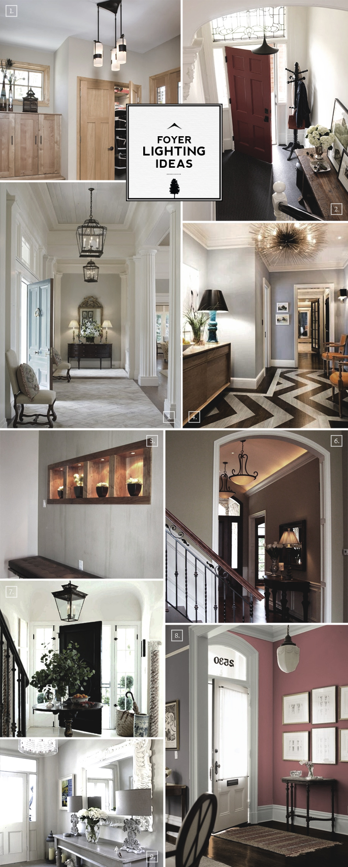 Entry foyer lighting ideas for large and small spaces - Lighting ideas for halls and foyers ...