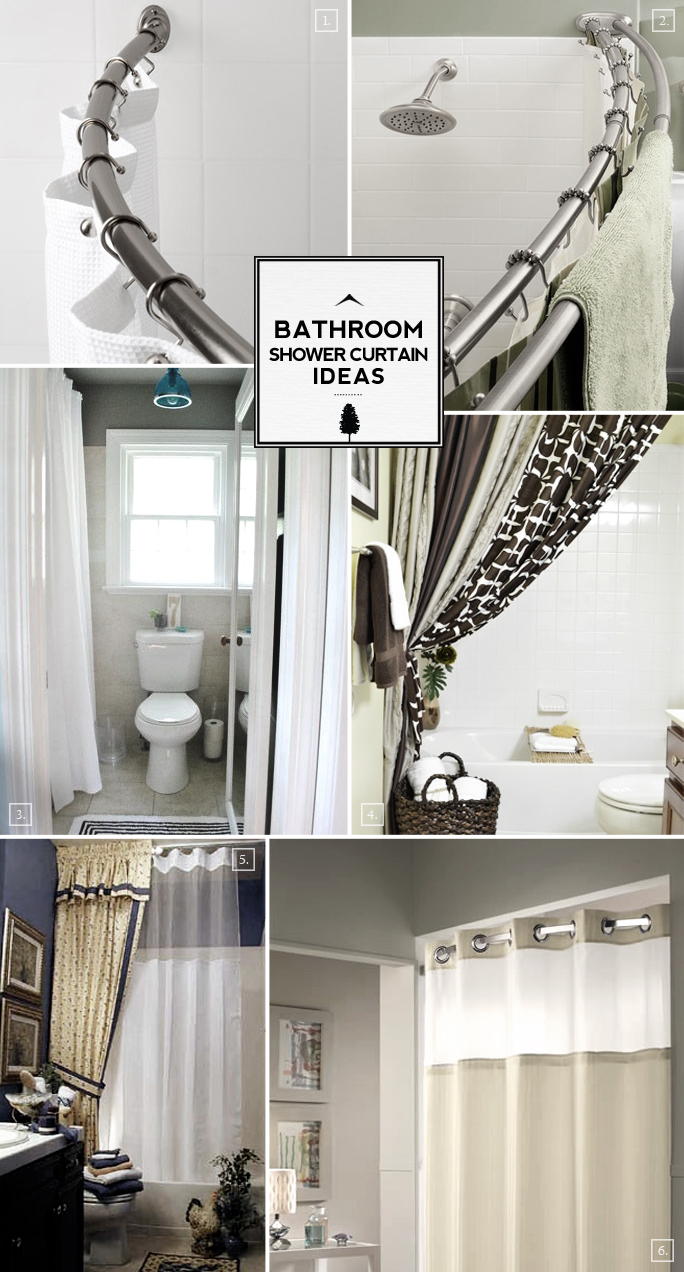 Bathroom Shower Curtain Ideas From Space Saving to
