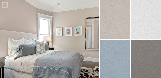 Bedroom color ideas paint schemes and palette mood board for Neutral wall paint colors