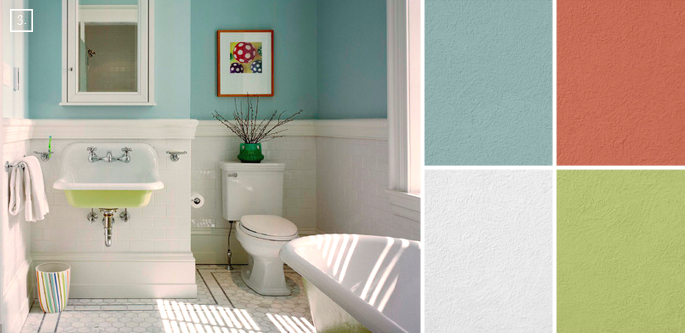 Bathroom color ideas palette and paint schemes home for What paint is best for bathrooms