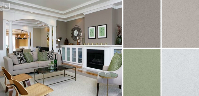 Ideas for living room colors paint palettes and color for Living room painting ideas