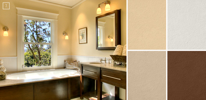 Bathroom color ideas palette and paint schemes home for Rich neutral paint colors