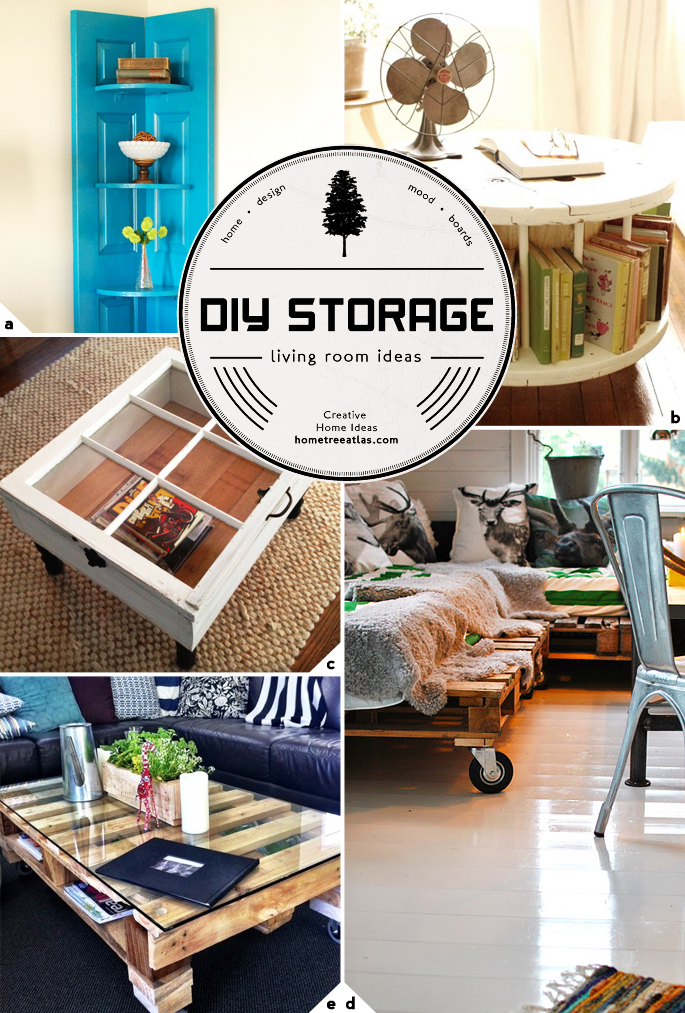 Creative living room storage ideas home tree atlas Living room ideas diy