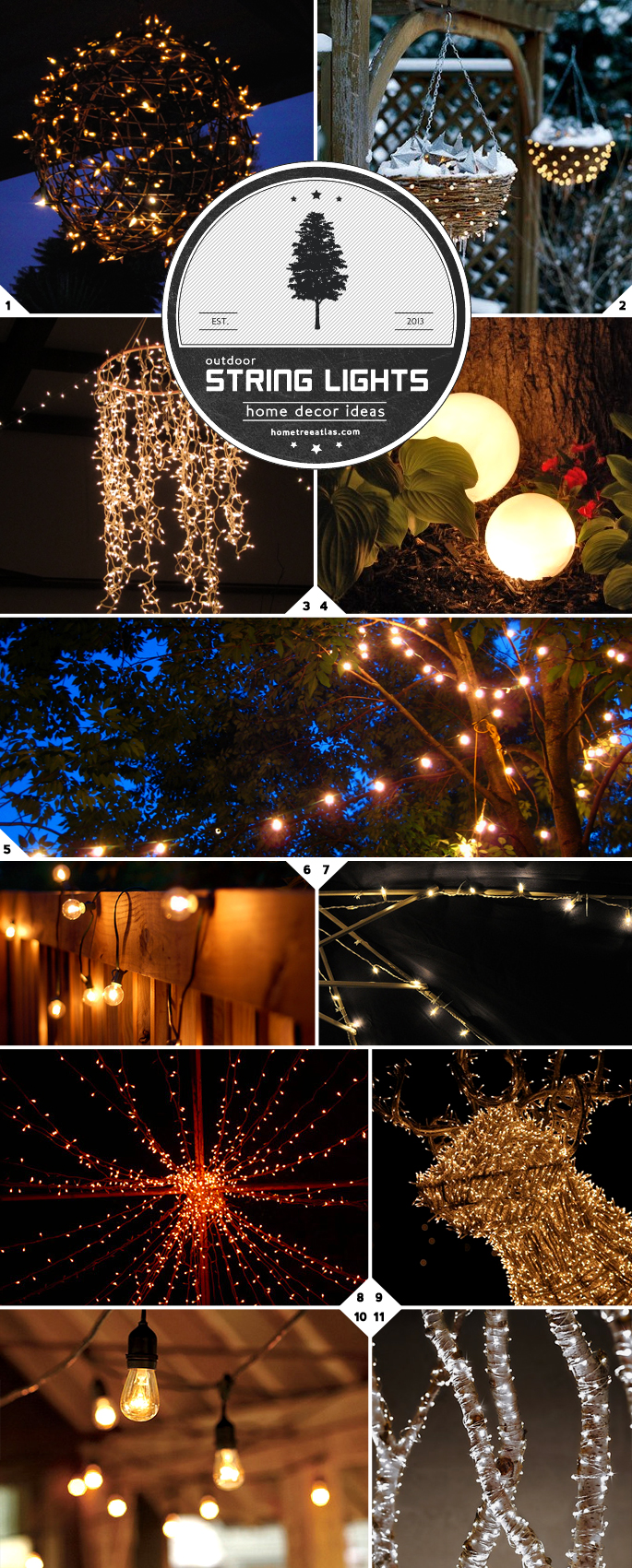 Home decor ideas creative ways of using string lights for Home decor ideas string lights