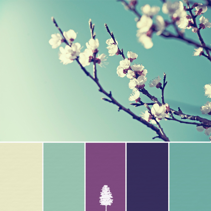 Cool purple and teal color palette have a look at these mood boards