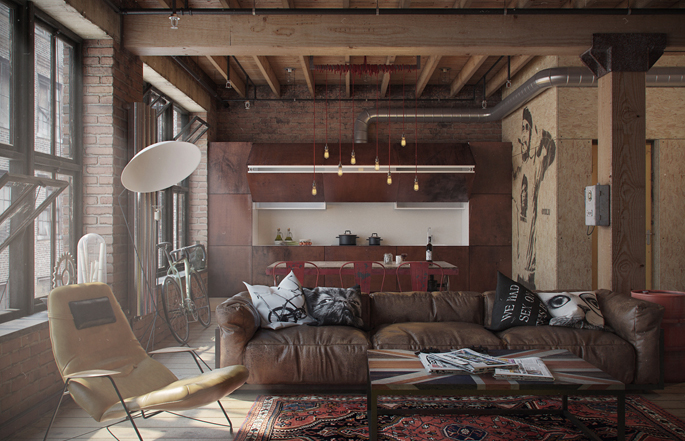 A loft apartment bachelor pad home tree atlas - A loft apartment bachelor pad ...