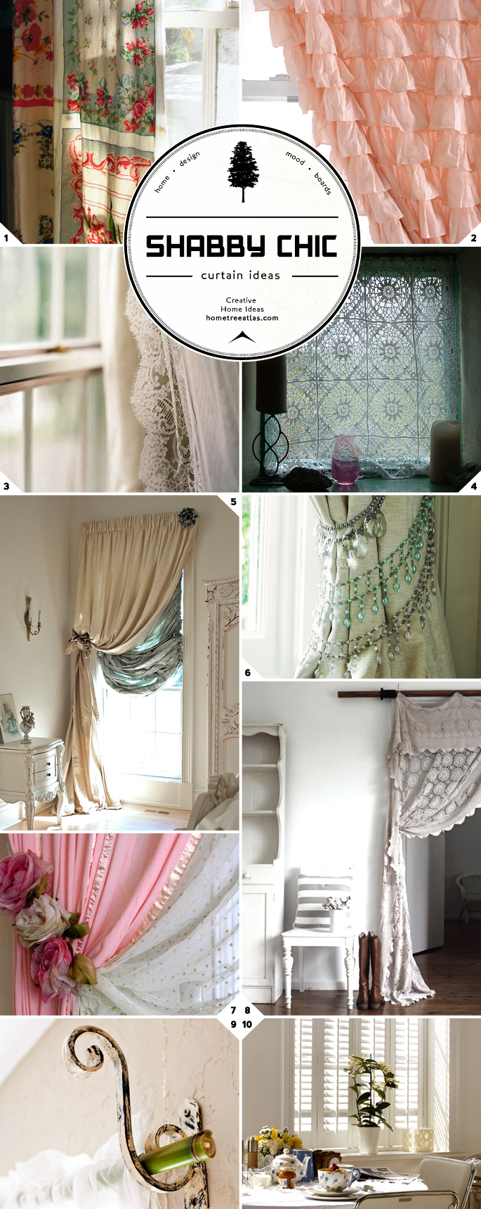 No Curtain Window Treatments Shabby Chic Window Ideas