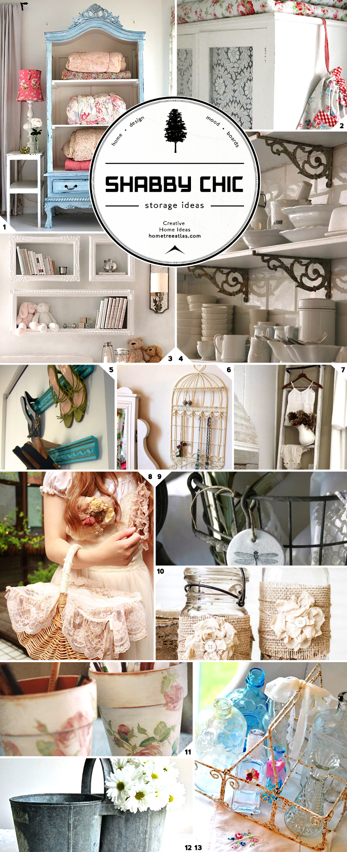 Organizing in style shabby chic storage ideas home tree - Shabby chic storage ideas ...