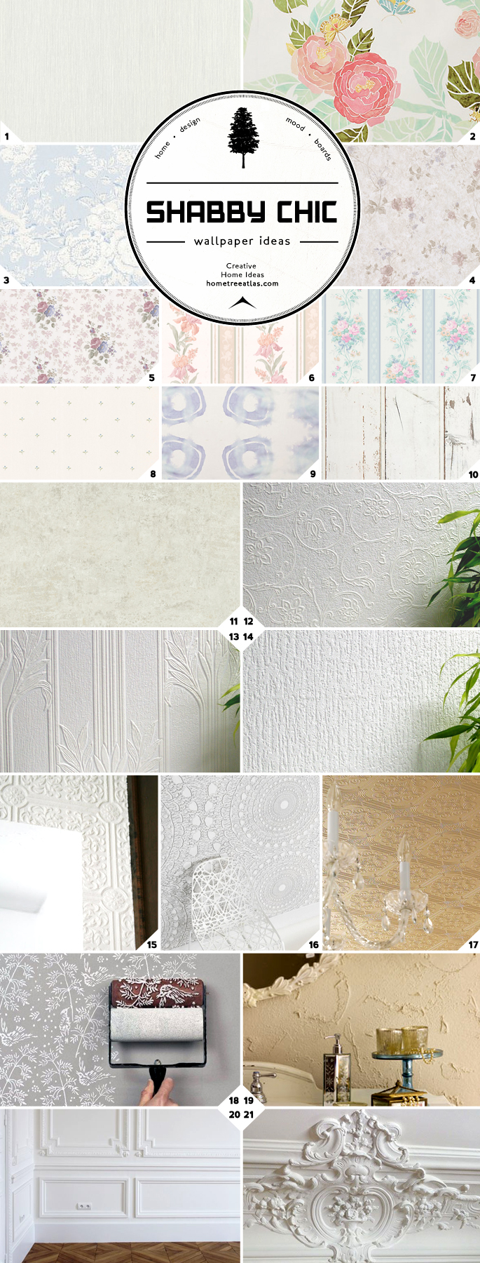 Shabby Chic Wallpaper Ideas and Designs | Home Tree Atlas