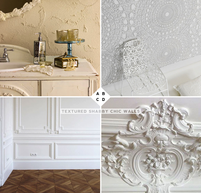 Textured Shabby Chic Walls