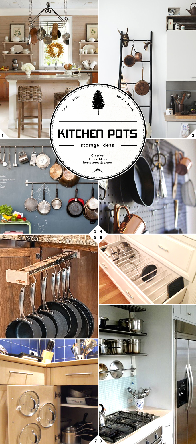 Hanging pot rack home design ideas - Kitchen Storage And Organization Part 2 Pot And Pan