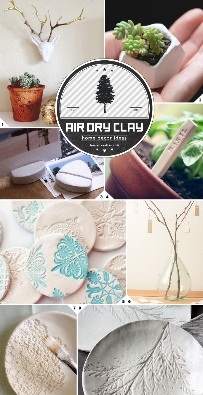 home decor ideas using air dry clay home tree atlas