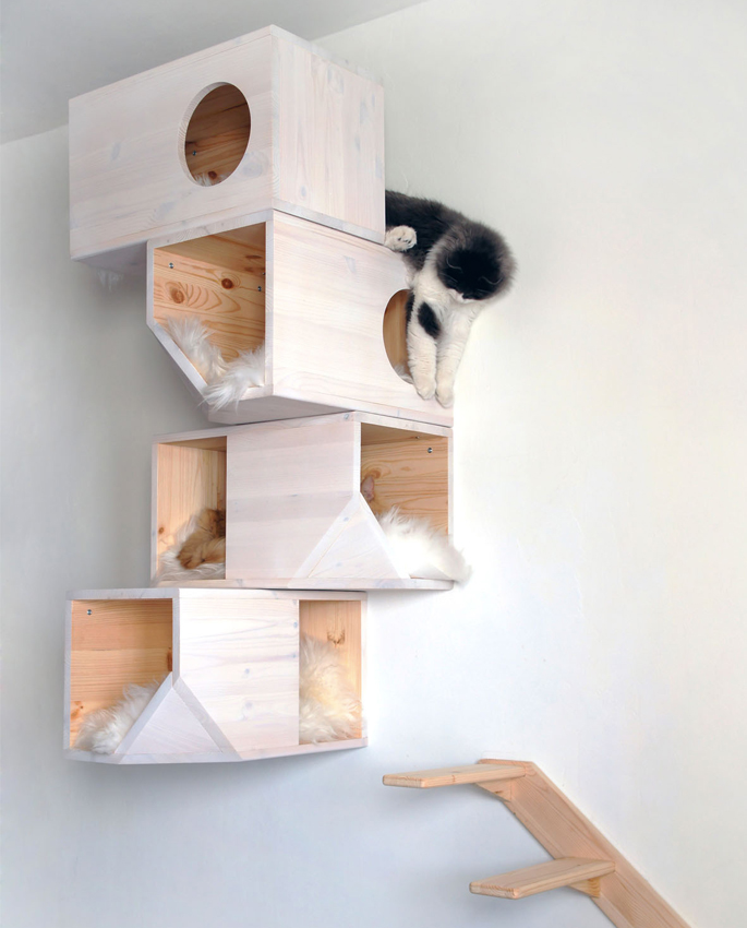 The Evolution of a Homemade Cat Tower | Home Tree Atlas