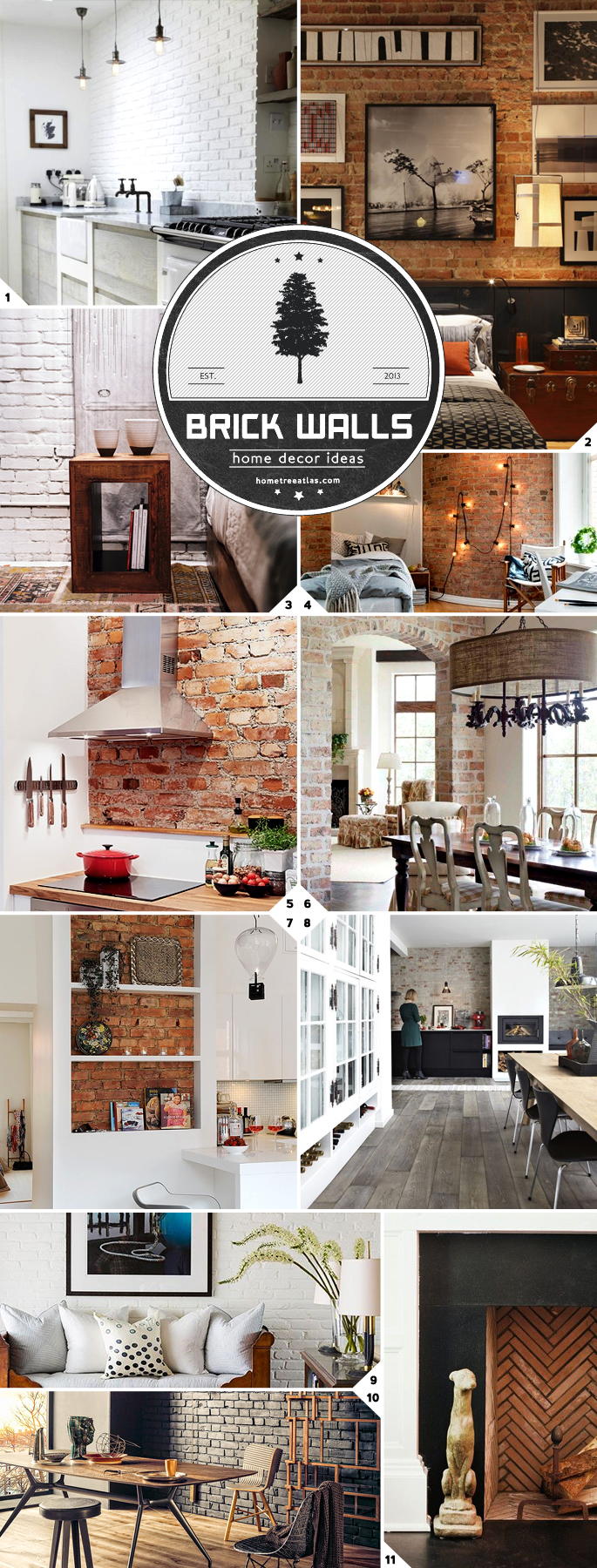 Industrial and Rustic Charm Home Brick Wall Designs