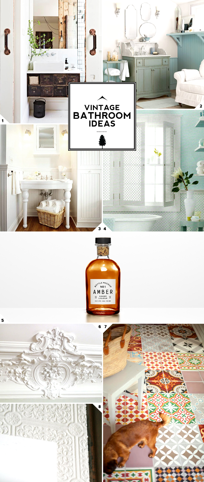 Vintage bathroom decor ideas home tree atlas for Bathroom decor ideas images