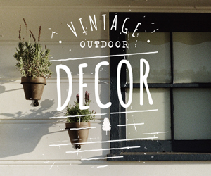 Vintage Outdoor Decor