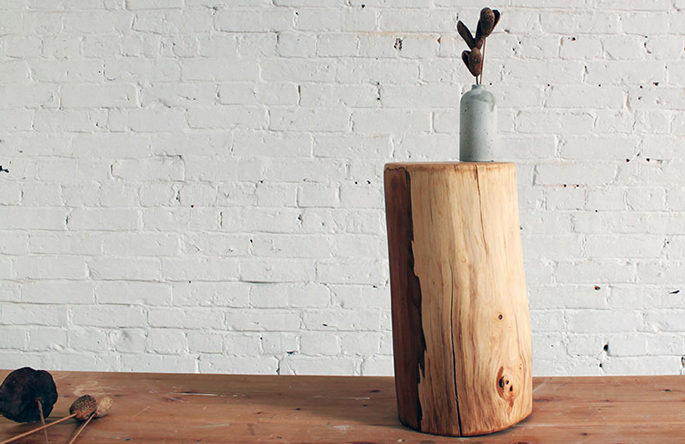 Log Sidetable DIY