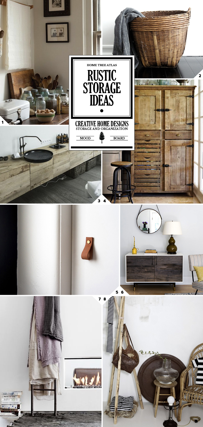 Rustic Storage Ideas Organization