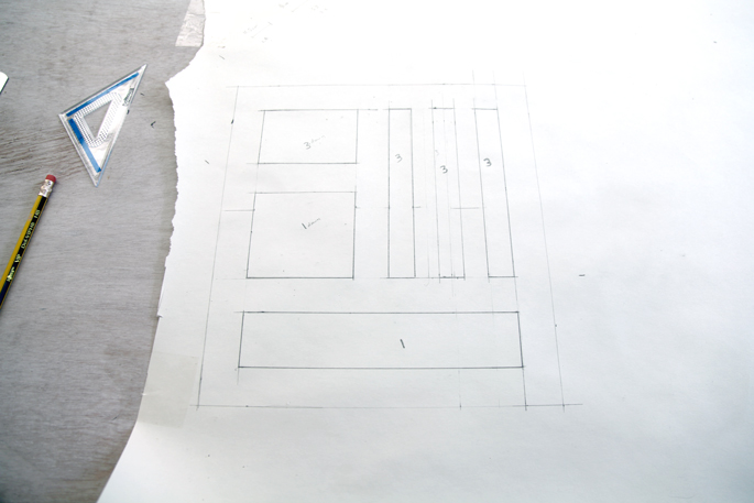 DIY Organization Bloks Made Out of Plywood: Bedroom and Desk Editions - STEP 1 The Template