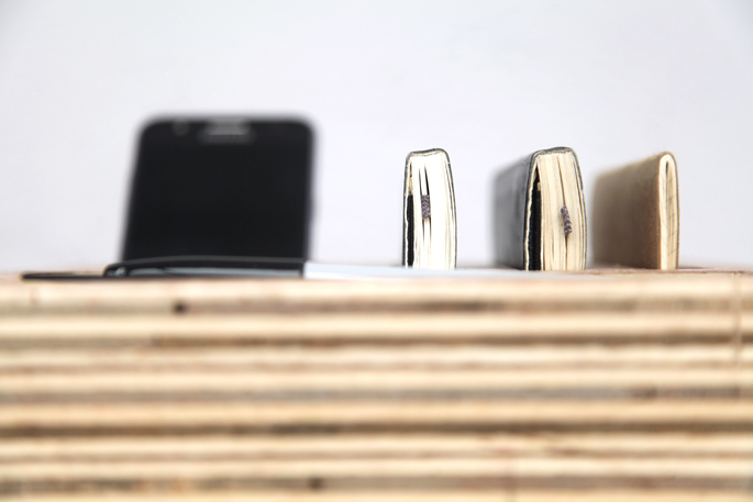 DIY Organization Bloks Made Out of Plywood: Bedroom and Desk Editions - The Desk Blok