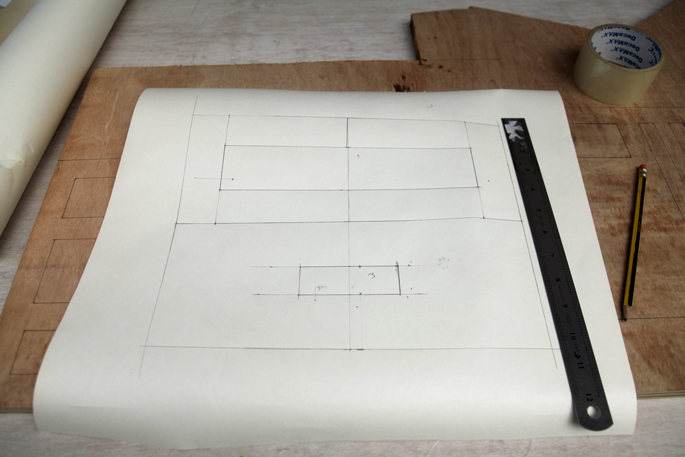 DIY Organization Bloks Made Out of Plywood: Bedroom and Desk Editions - The Bedroom Blok Template