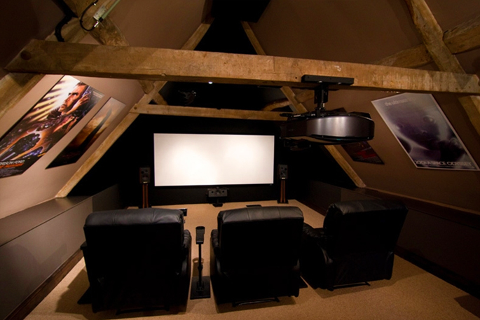 Attic Rooms - 11 Different Conversion Ideas: #5 A Space To Watch Movies