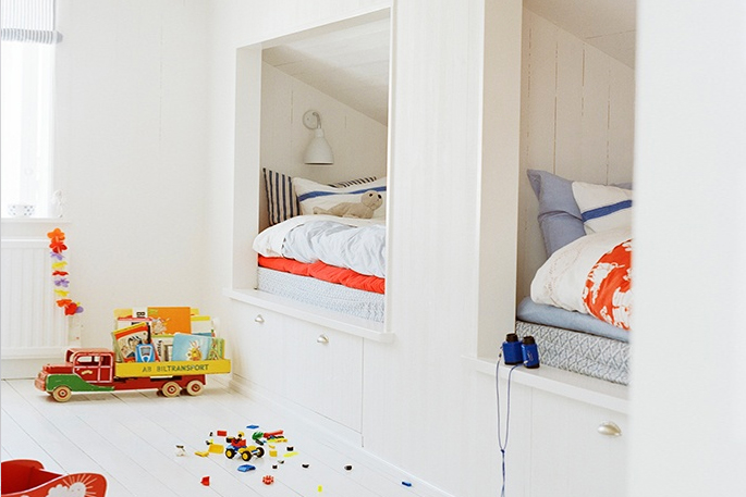 Attic Rooms - 11 Different Conversion Ideas: #9 The Kids are All Tucked Away