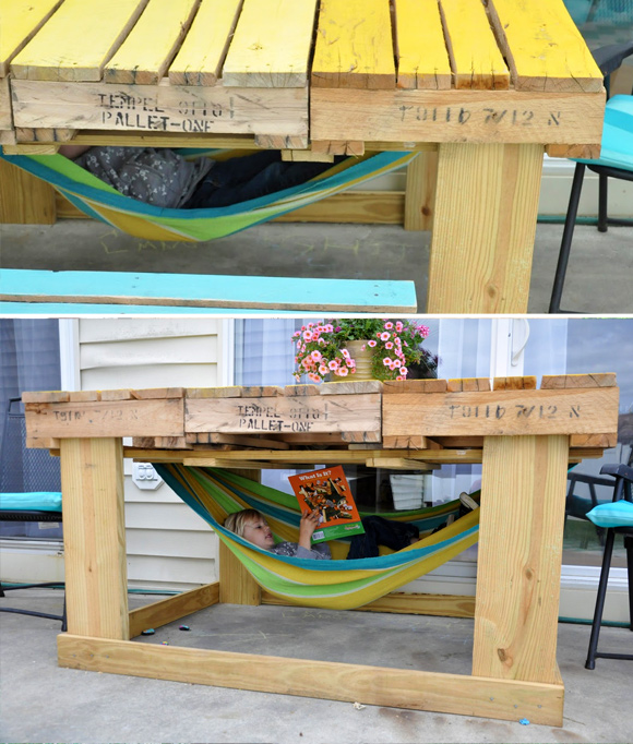 Is That a Pallet Swimming Pool? 24 DIY Pallet Outdoor Furniture ...