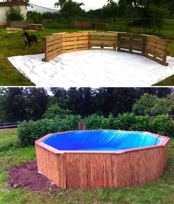 Is That A Pallet Swimming Pool 24 DIY Pallet Outdoor
