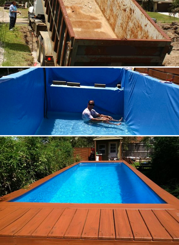7 diy swimming pool ideas and designs from big builds to for Building an inground pool